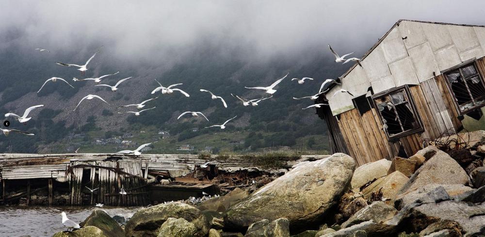 Old pier, by Sergei Smirnov. Photo: Nagaev Bay, Magadan