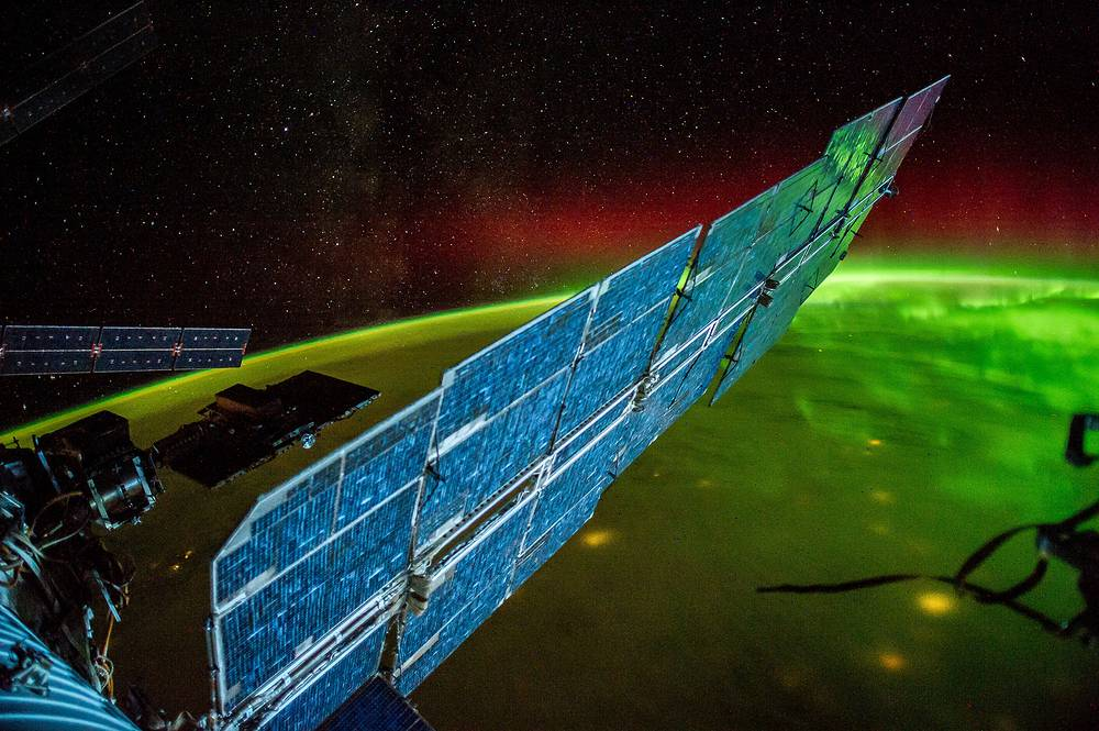 Night Earth observations of aurora, September 13, 2014