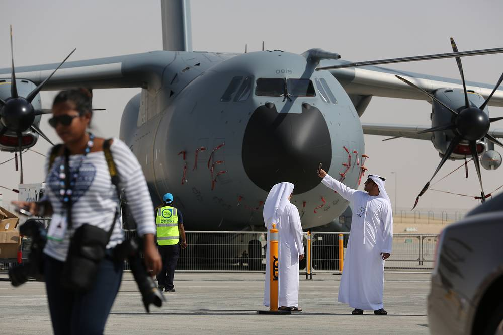 Airbus A400M Atlas turboprop military transport aircraft