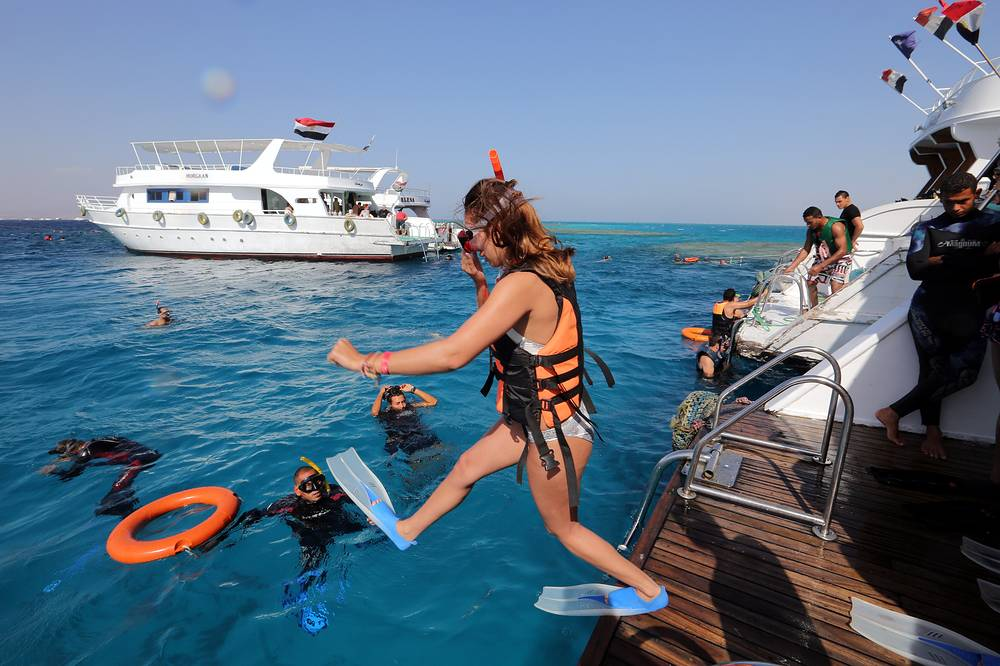 Tourists at Sharm el-Sheikh, Egypt