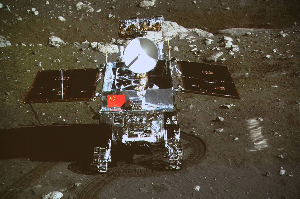Chinese unmanned lunar rover Yutu (Jade Rabbit) that formed part of the Chinese Chang'e 3 mission to the Moon, reached the Moon's surface on 14 December 2013. The mission marked the first soft landing on the Moon since 1976 and the first rover to operate there since the Soviet Lunokhod 2 ceased operations on 11 May 1973