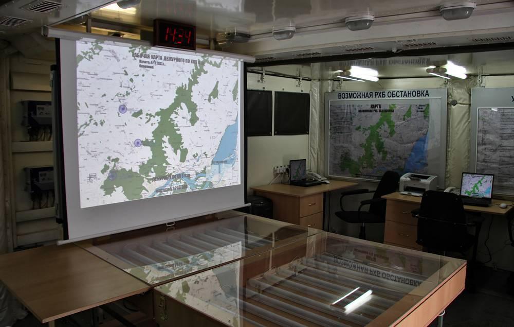 Mobile field control post of CBRN brigade commander