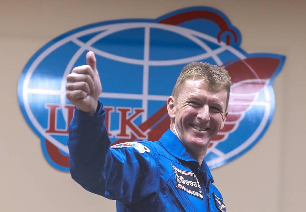 Britain's astronaut Timothy Peake