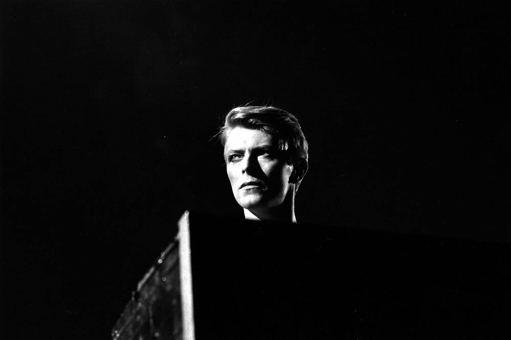 David Bowie at a concert in London during his 1978 world tour