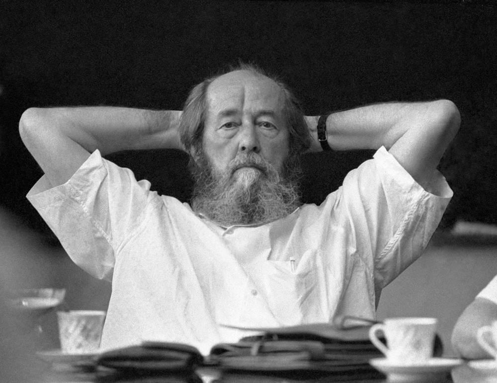 Russian writer Alexander Solzhenitsyn, 1994