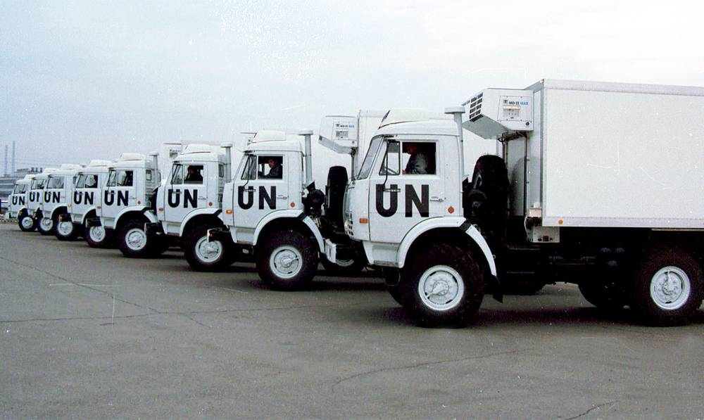 First lot of trucks for the UN manufactured at Kamaz plant in Tatarstan