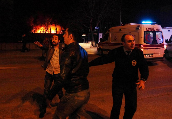 Scene of blast in Ankara