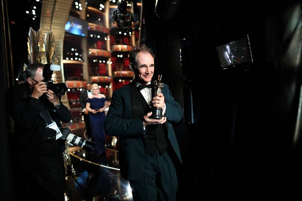 Actor Mark Rylance, winner of Best Supporting Actor for 'Bridge of Spies'