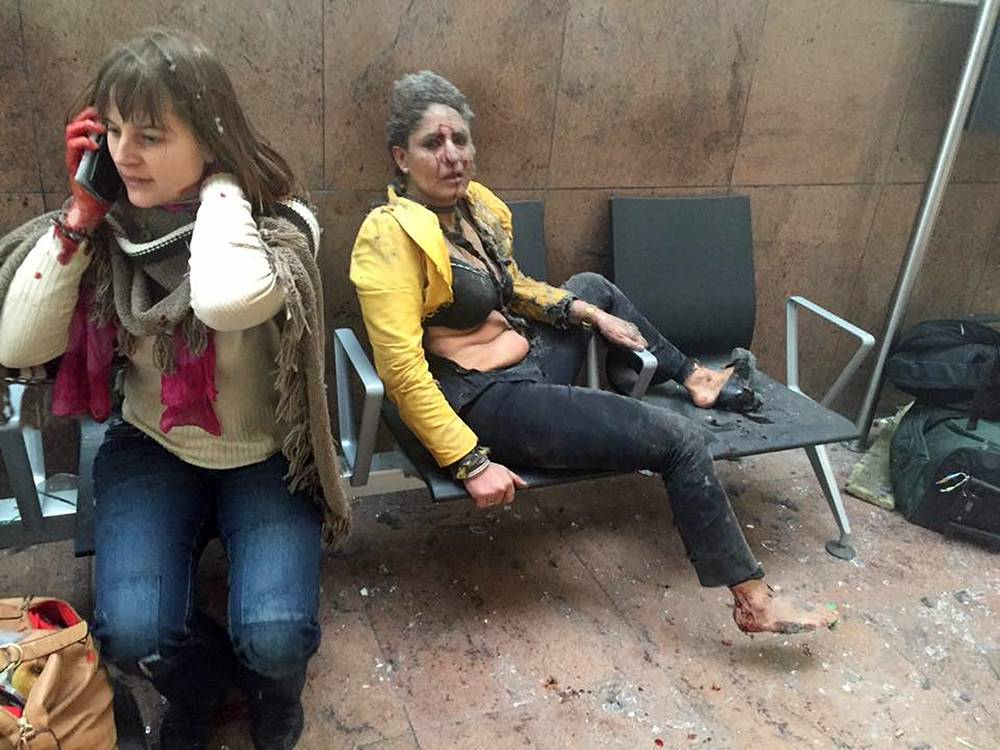 Women wounded in Brussels Airport
