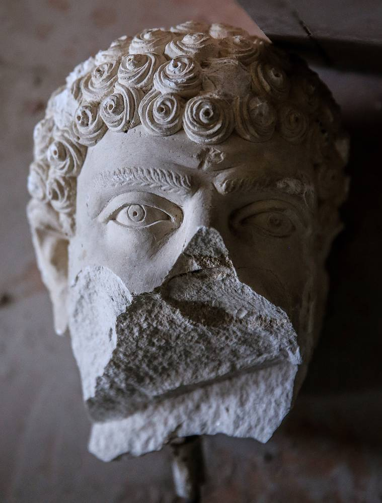 Ancient sculpture damaged by the IS terrorist group