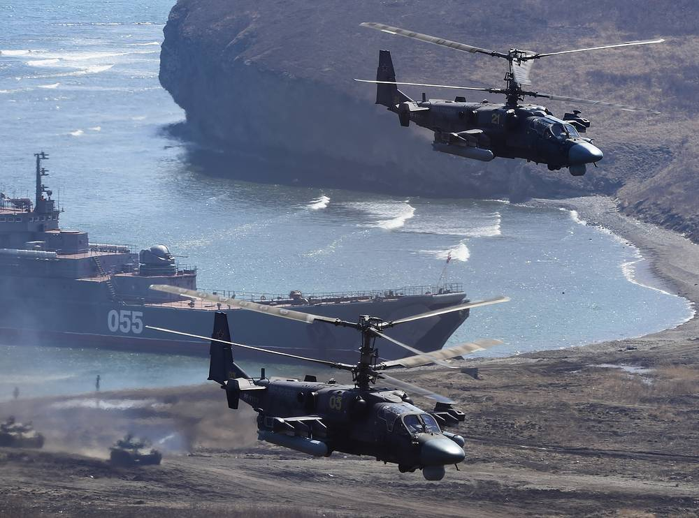 Kamov Ka-52 helicopters