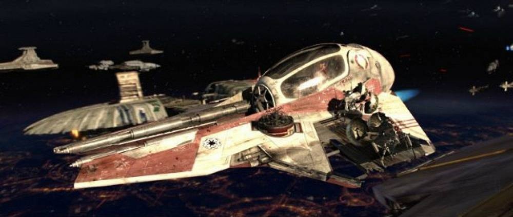 Spaceships of rebels from 'Star Wars: Episode III'""