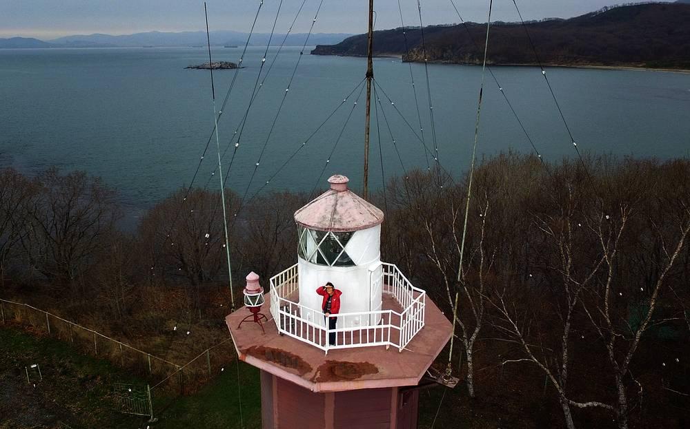 Nepristupniy lighthouse in Wrangel Bay