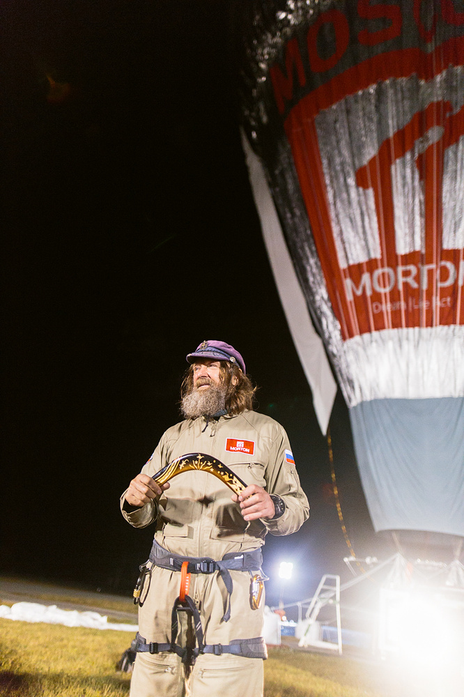 On 12 July 2016 Russian adventurer Fedor Konyukhov started his solo round-the-world balloon flight near Northam, 96 kilometers north-east of Perth in Western Australia