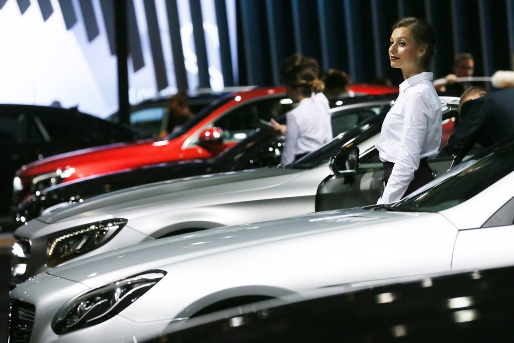 Mercedes-Benz display at the 2016 Moscow International Automobile Salon