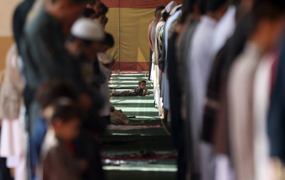 Eid al-Adha prayers in Eid Gah mosque in Kabul, Afghanistan