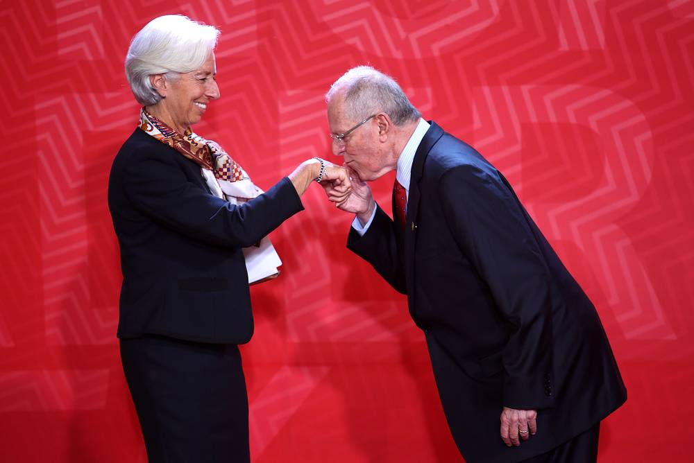 Director of the International Monetary Fund Christine Lagarde and Peruvian President Pedro Pablo Kuczynski