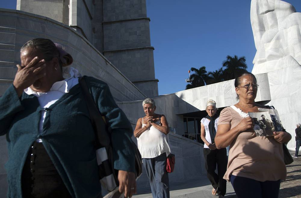 Cubans at the Revolution Plaza in Havana