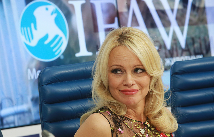 Pamela Anderson during the press conference
