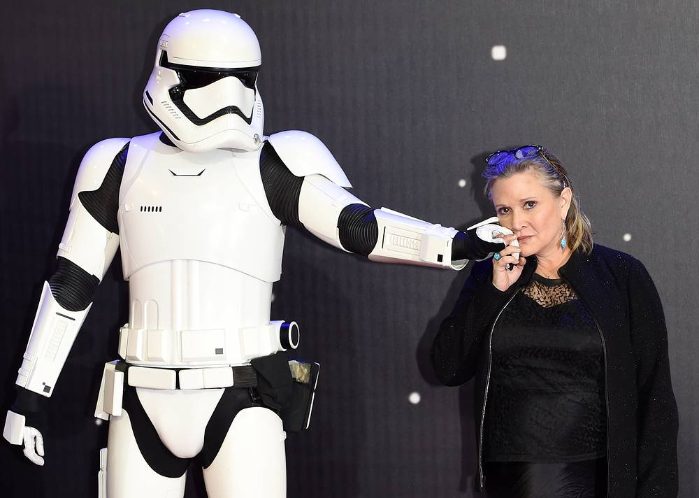 US actress Carrie Fisher, best known as Princess Leia in Star Wars, died aged 60 on December 27