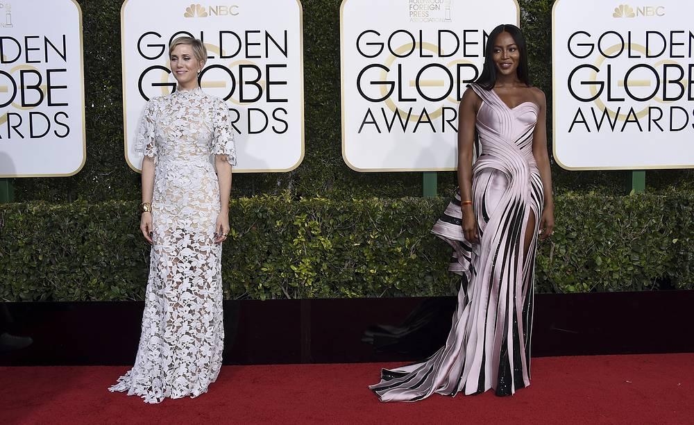 Kristen Wiig and Naomi Campbell