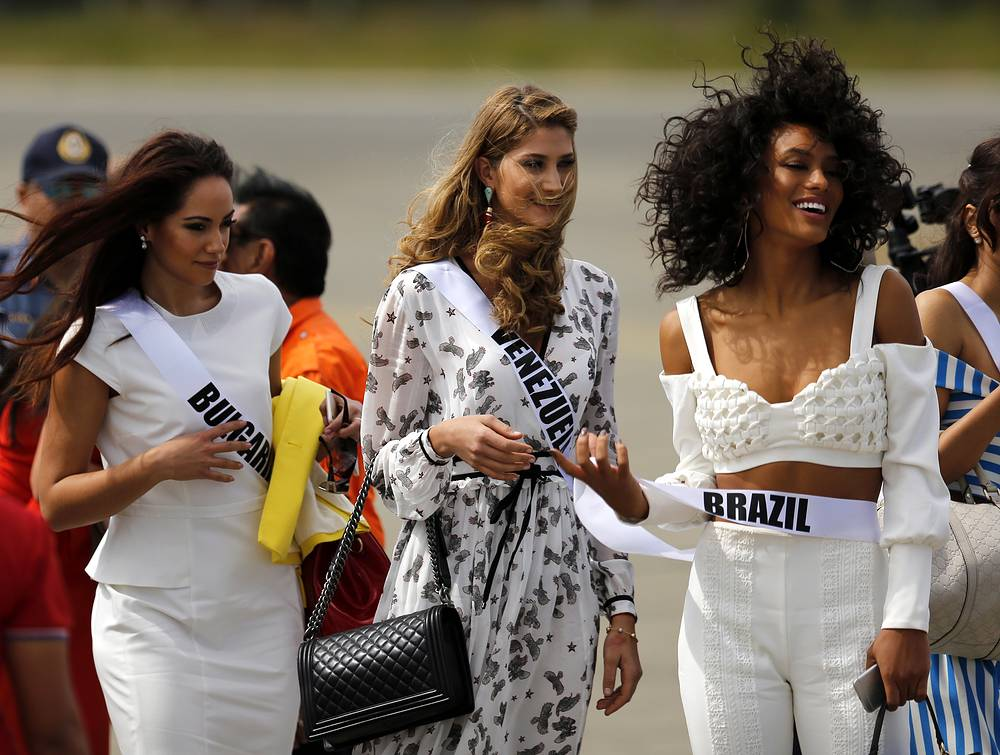 Violina Ancheva from Bulgaria, Mariam Habach from Venezuela and Raissa Santana from Brazil