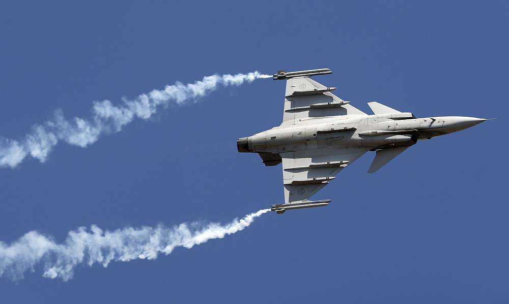 Gripen, a Swedish fighter aircraft
