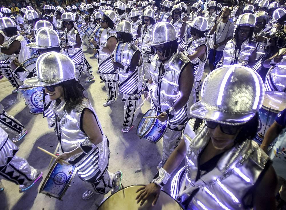 Carnival at the Sambodrome in Rio de Janeiro