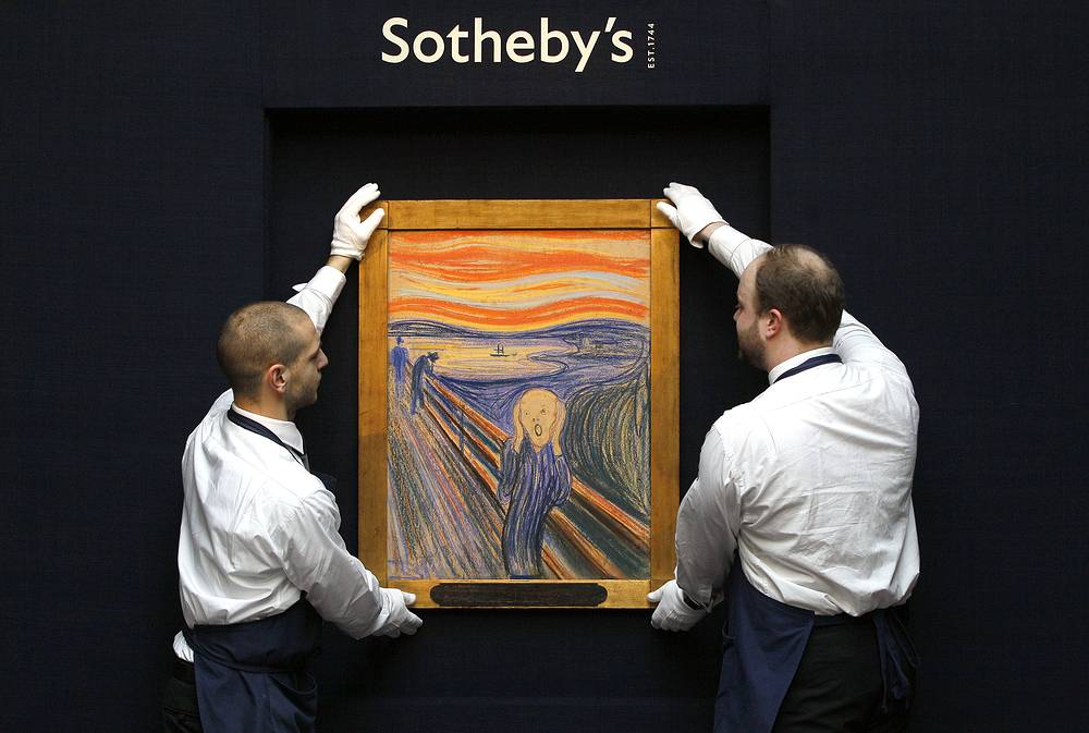 In 2012, Norwegian expressionist Edvard Munch's The Scream was sold for $119,9 mln to American billionaire Leon Black
