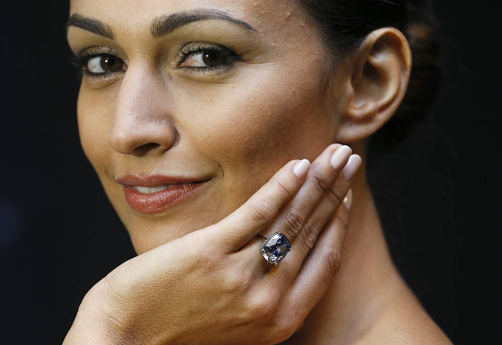 "The 12.03-carat Blue Moon diamond was sold on November 11, 2015 at Sotheby's in Geneva for $48.63 mln to Hong Kong billionaire Joseph Lau who renamed the gemstone ""The Blue Moon of Josephine"" in honor of his seven-year old daughter. The diamond was mined by Petra Diamonds in South Africa in January 2014 and weighed 29.62 carat in the rough"