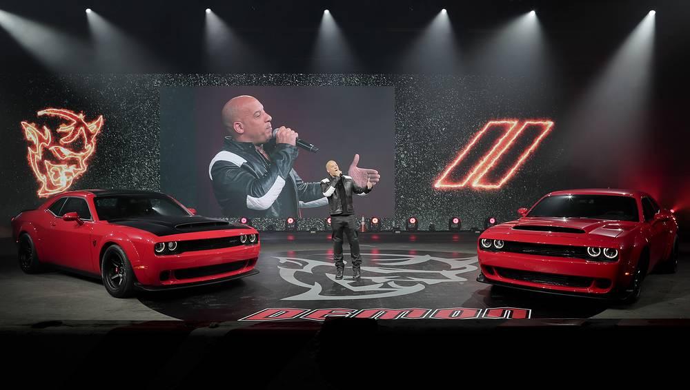 Actor Vin Diesel unveiling of the 2018 Dodge Challenger SRT Demon