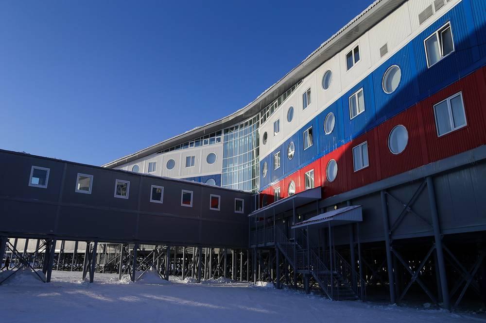 Russia's Arctic Trefoil military base on Alexandra Land Island, a part of the Franz Josef Land Archipelago