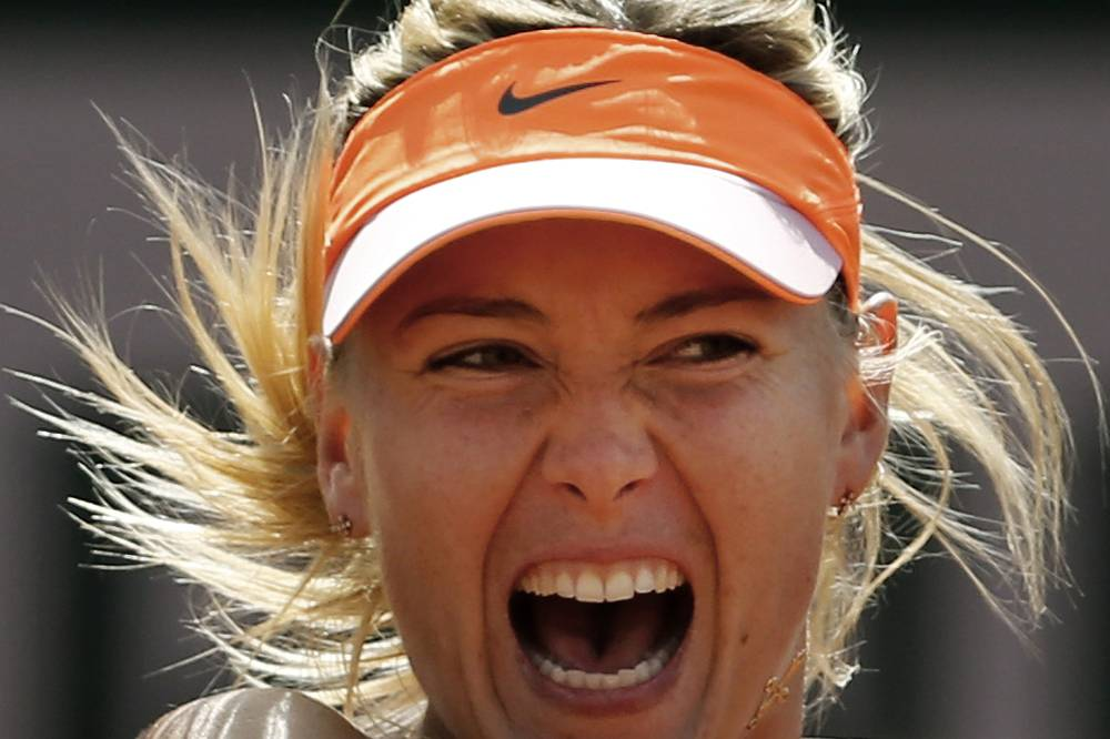 Russia's Maria Sharapovaat the the semifinal match of the French Open tennis tournament at the Roland Garros stadium, in Paris, 2014