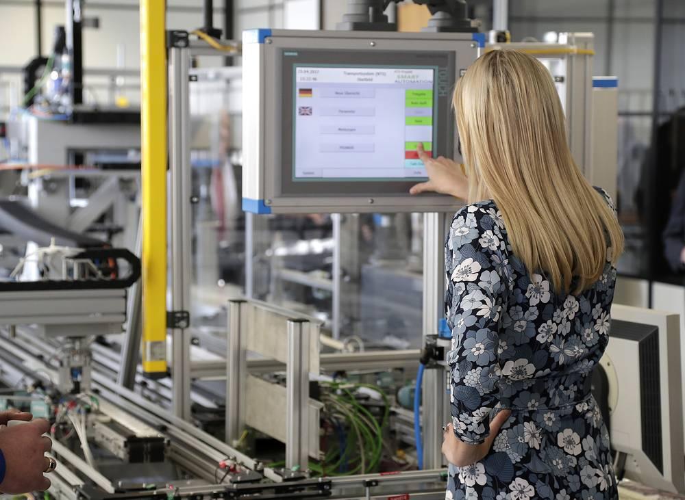 Ivanka Trump at the Siemens training center in Berlin