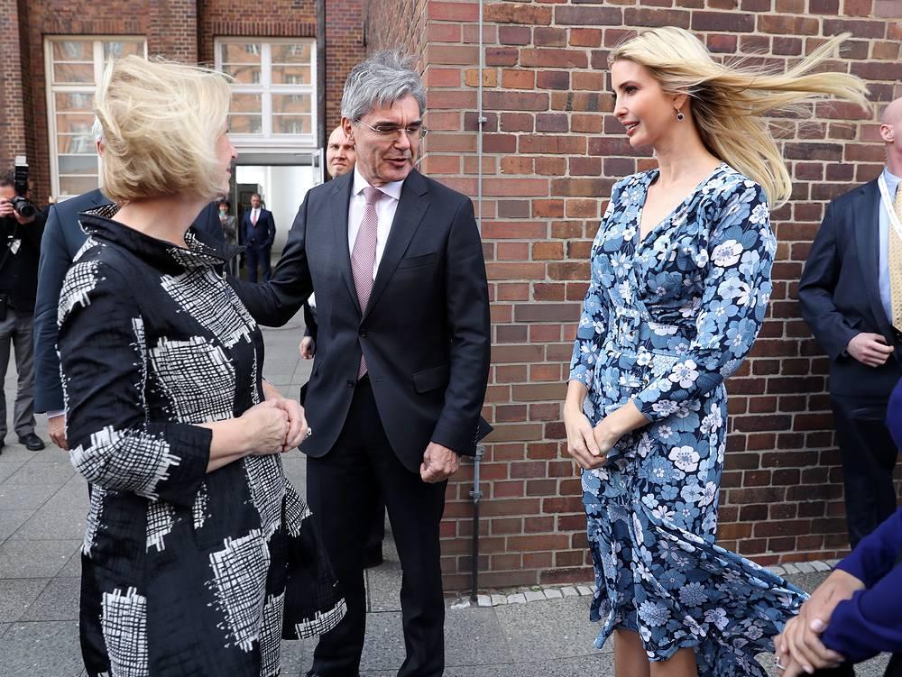 Ivanka Trump meets CEO of Siemens Joe Kaeser at the Siemens mechantronic factory
