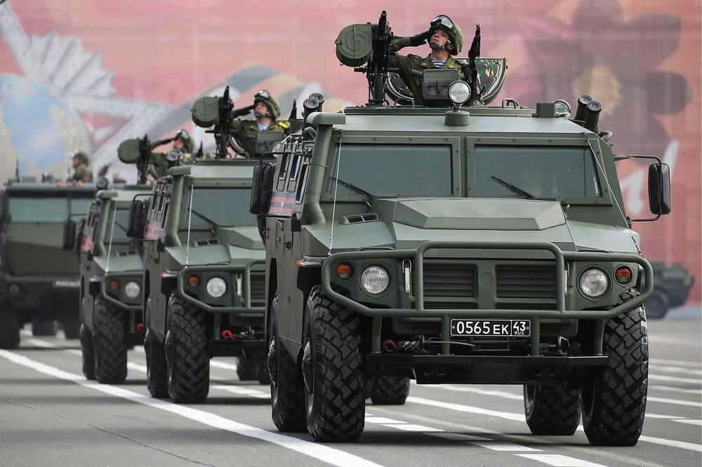 Tigr multipurpose, all-terrain infantry mobility vehicles