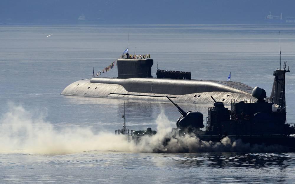 Borei class nuclear-powered ballistic missile submarine Yuri Dolgoruky