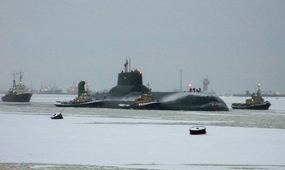 Akula class nuclear ballistic missile submarine Dmitriy Donskoi