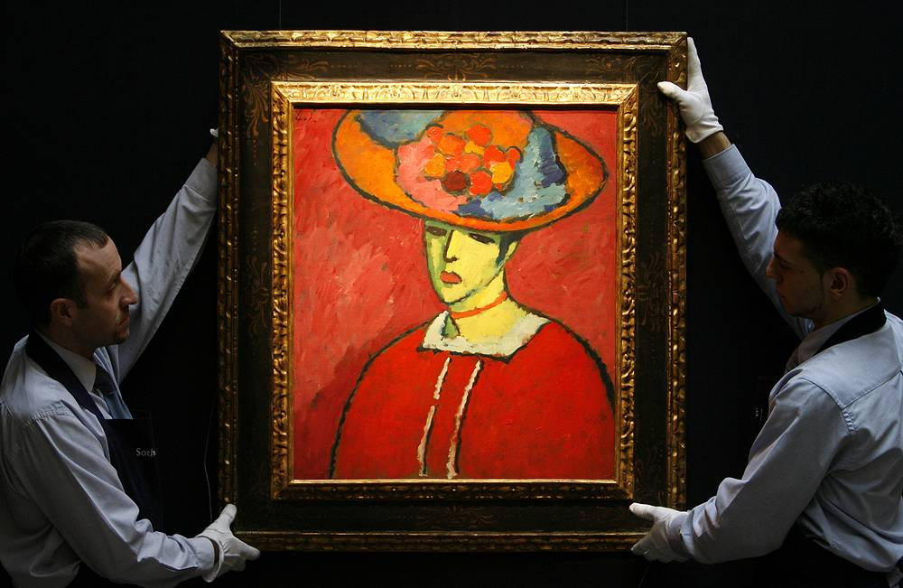 "Alexej von Jawlensky's ""Shokko in a red hat"" (1910) was sold for $18,6 million at Sotheby's in 2008"