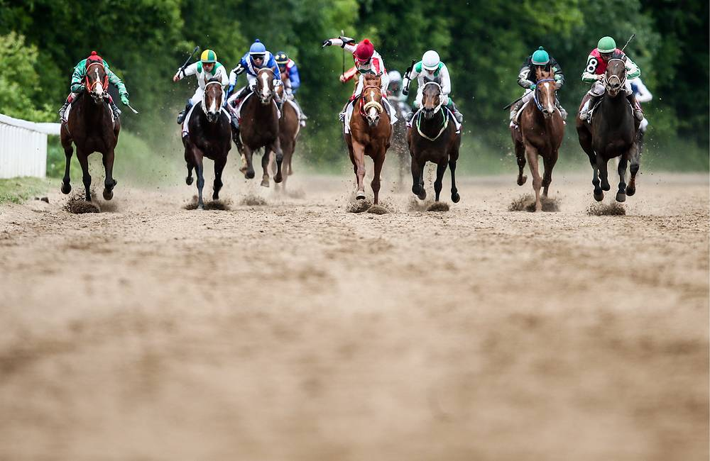 Participants of the Russian Federation President's Cup race at the Central Moscow Hippodrome, Russia, June 11