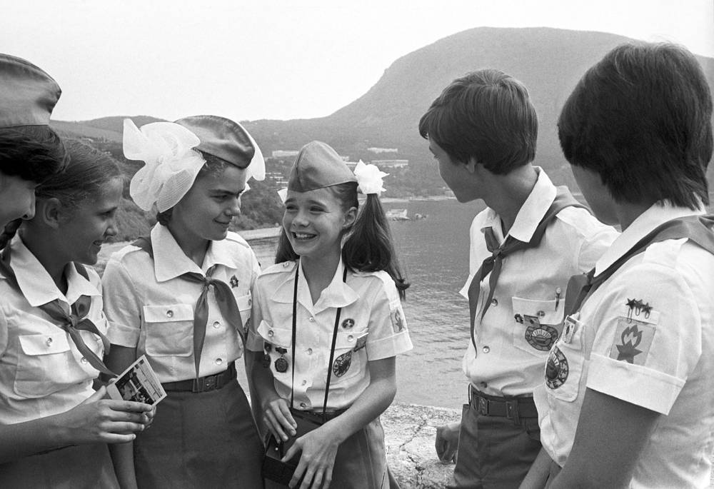 Samantha Smith during her stay at the Artek camp in Crimea