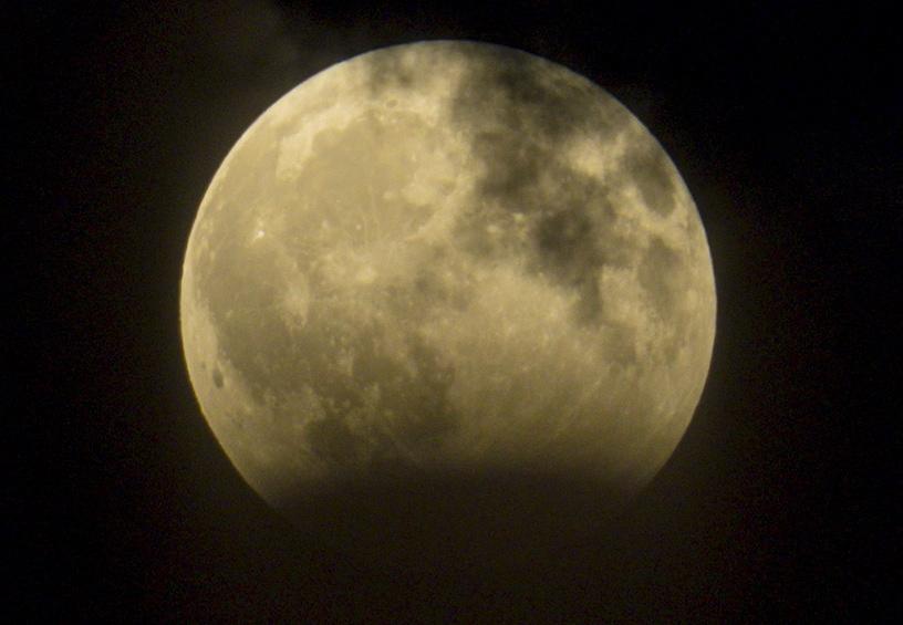 Lunar eclipse over Volgograd, Russia