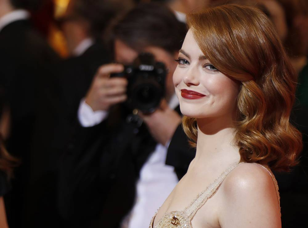 """Emma Stone, 28, who won Best Actress Oscar award for her role in """"La La Land,"""" made $26 million, according to Forbes' calculations"""