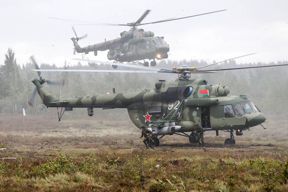 A helicopter insertion at Borisovsky range
