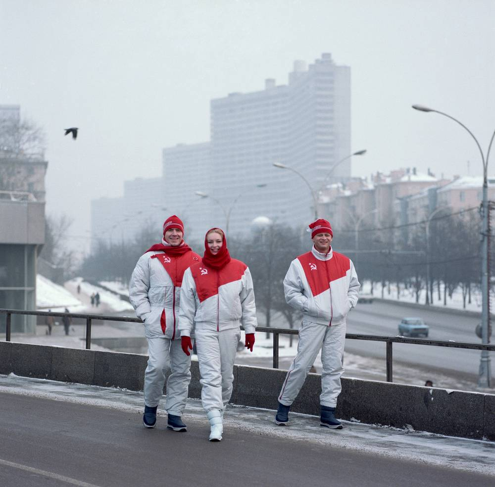 Soviet Olypmic uniform for 1988 Winter Olympics in Calgary, Canada