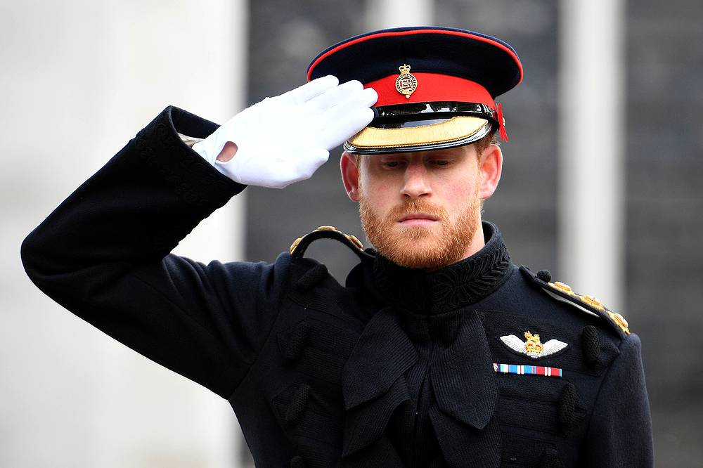 Prince Harry honors fallen British soldiers at the Field of Remembrance ceremony at Westminster Abbey, London, November 9