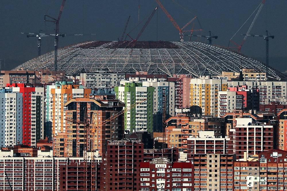 The construction site of Samara Arena Stadium