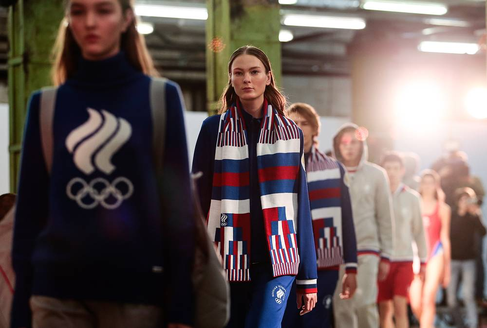 Unveiling the Team Russia outfit designed for the Pyeongchang 2018 Winter Olympic Games