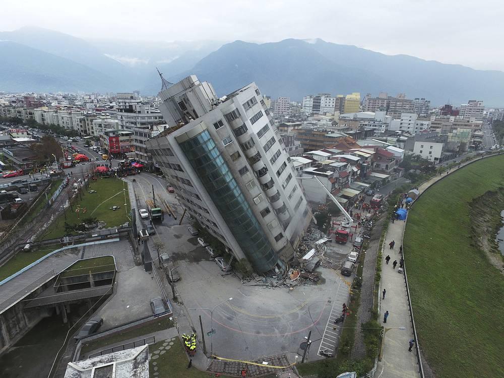A magnitude 6.4 earthquake hit Taiwan's east coast on the night of February 6