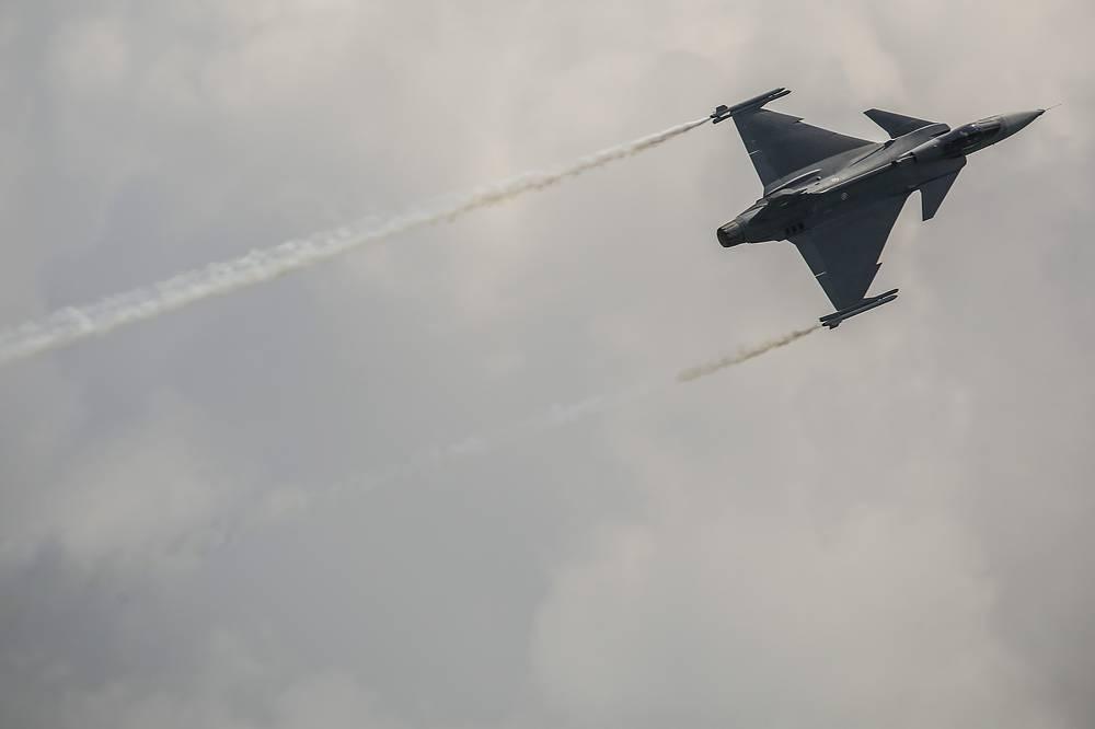 A Royal Thai Air Force (RTAF) JAS-39 Gripen